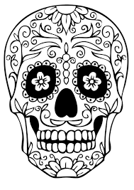 sugar skull drawing by note9 info