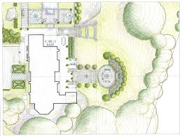 art drawing rendering colored pencil landscape garden design