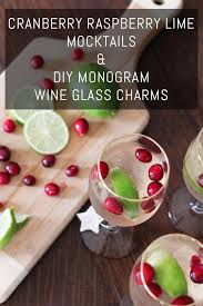 diy monogram wine glasses cranberry raspberry lime mocktails diy monogram wine glass