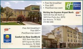 Comfort Inn Free Wifi Holiday Inn Express Airport North San Antonio Tx Aaa Com