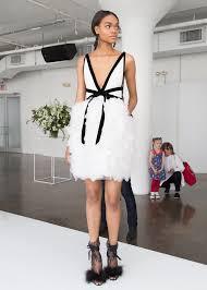 short designer wedding gowns for modern brides from new york