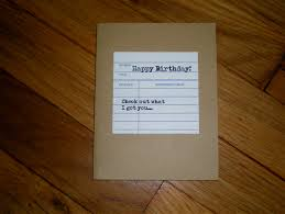 library themed gift card holder birthday card bookish gift