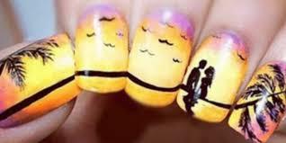 soft orange polish nail design cute nail polish ideas for summer