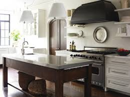 interesting modern rustic kitchen design with black range hood