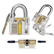 amazon com kuject practice lock set transparent cutaway crystal