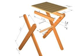 Folding Picnic Table Plans Incredible Wood Folding Table Plans With Folding Wooden Picnic