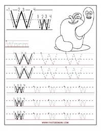 printable letter w tracing worksheets for preschool printable