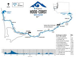 Washington Map by Hood To Coast Washington Course Map Hood To Coast Race