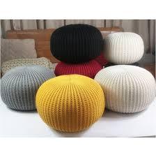 Ottoman Cushions Knitted Woolen Cushion Pouf Floor Ottoman In Cushion