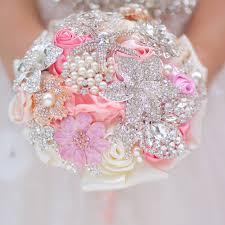 bridesmaids bouquets mini bridal bouquet pink coral 5 inch brooch bouquet