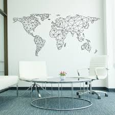 Design Wall Stickers World Map Network Wall Sticker Wall Sticker Office Walls And Walls