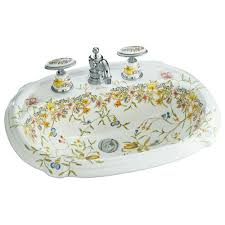 kohler portrait drop in vitreous china bathroom sink with english