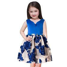 2018 Summer Kids Girls Party Dress Baby Teen Christmas Dress New