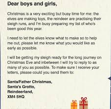 santa claus letters how to get a free letter from santa claus address to your
