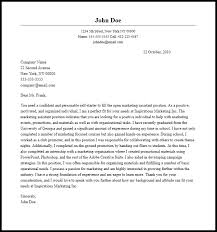 cover letter marketing job application cover letter sample