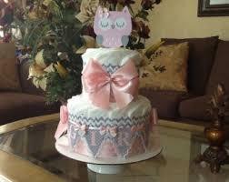 owl diaper cake etsy