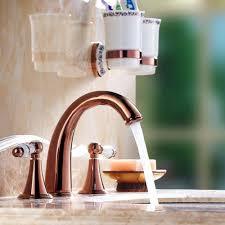rose gold appliances rose gold dual ceramic handles bathroom basin faucet waterfall