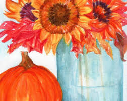 Thanksgiving Window Paintings Watercolor Paintings Acrylic Paintings Prints By Sharonfosterart