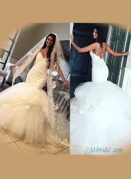 Wedding Dresses With Straps Spaghetti Straps Wedding Dresses Sweetheart Low Back Mermaid