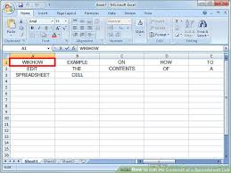 Microsoft Spreadsheet How To Edit The Contents Of A Spreadsheet Cell 3 Steps