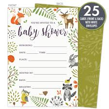 Blank Invitation Cards And Envelopes Amazon Com Woodland Animals Thank You 36 Thank You Cards 6