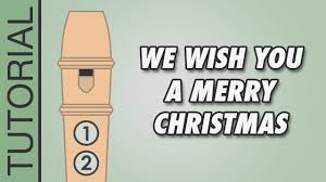 we wish you a merry recorder notes tutorial