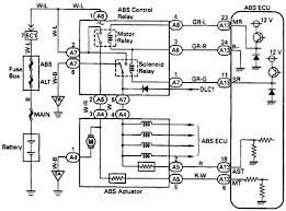 toyota abs control relay wiring diagram