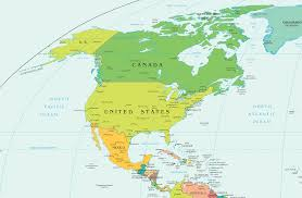 World Continents And Countries Map by North America Physical Map Countries