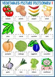vegetables esl printable worksheets and exercises
