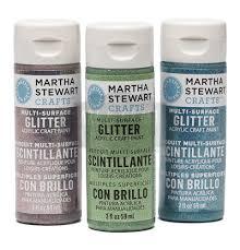 martha stewart crafts glitter acrylic paint