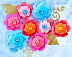 printable large flowers giant paper flower patterns tutorial diy paper flower templates