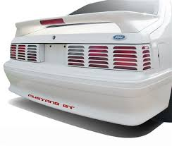 93 mustang lx tail lights mustang gt bumper insert decals red 87 93 lmr