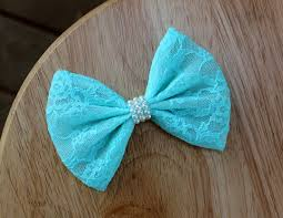 blue bows 4 5 blue lace hair bow pastel blue lace bow blue lace