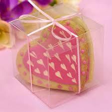 bridal shower party favors 3 x 3 clear plastic bridal shower party favor gift boxes 25