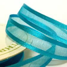 organza ribbon 10mm satin edge organza ribbon turquoise paper craft scrapbook