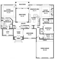 4 Bedroom Single Story Floor Plans Small Four Bedroom House Plans Nrtradiant Com