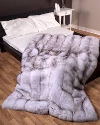 Faux Fur Comforter Blue Fox Fur Blanket U2026 Pinteres U2026