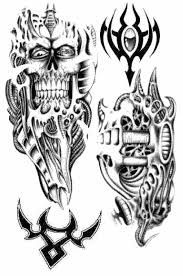 tribal biomechanical tattoo designs photos pictures and