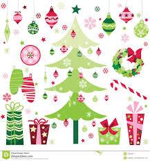 retro christmas design elements stock image image 33529871