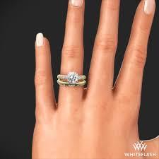 gold wedding set chagne pave diamond wedding set 2326