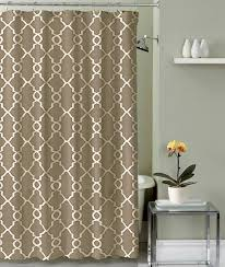 crest home bathroom shower curtain polyester fabric jenny taupe