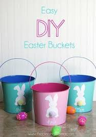 Diy Easter Basket Love These Easter Baskets Jen Made Using Dollar Store Buckets