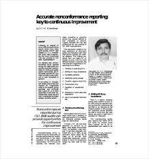 sample non conformance report template 12 free word pdf
