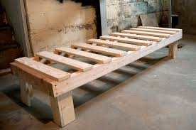 How To Make Bed Frame Bed Backyard How To Build A Wood Twin Bed Frame Loccie Better