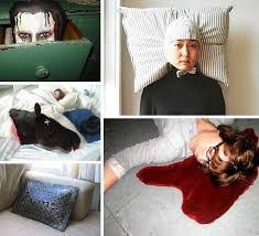armed bed pillows big bad bed head 15 strange nightmarish pillow designs urbanist