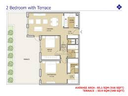 mudon views 2 bedroom apartment floor plan