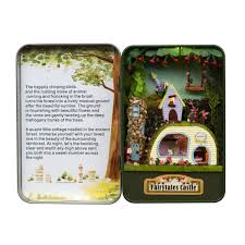 Musical Home Decor by Diy Fairytale Castle Handwork Assembly Box Theater Led Light Mini