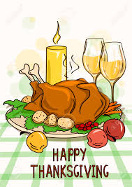 thanksgiving dinner pictures clip art thanksgiving card with roasted turkey bird vegetables wine