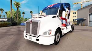 kenworth truck tractor skin u s a eagle on a kenworth tractor for american truck simulator