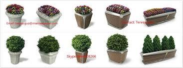 outdoor decorative planter pots square plastic flower pots large
